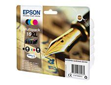 Epson 16XL Stylo Plume - Pack de 4 - noir, cyan, magenta, jaune - cartouche d'encre originale