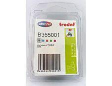 Trodat - 3 Encriers 6/55 recharges pour tampon 5205 - noir