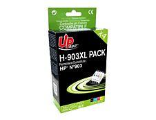 HP 903XL - remanufacturé UPrint H.903XL - Pack de 4 - noir, cyan, magenta, jaune - cartouche d'encre