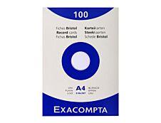 Exacompta - 100 Fiches bristol - A4 - blanc - uni