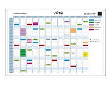 Exacompta - Planning annuel magnétique - effaçable à sec - 90 x 59 cm