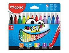 Maped Color'Peps Maxi - 12 feutres Pointe large