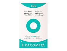 Exacompta - 100 Fiches Bristol - 125 x 200 mm - blanc - quadrillé - 5x5