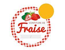 Avery Fraise - 20 étiquettes de confiture