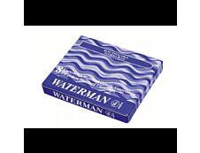 Waterman - 8 Cartouches d'encre longues - bleu