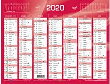 RAYNARD BANQUE - calendrier bancaire - 335 x 430 mm - rouge