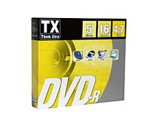 Think Extra - Pack de 5 DVD-R TX 16X - slimcase