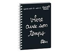 Ben - Agenda spiralé universitaire - 1 semaine sur 2 pages - 10 x 15 cm - Quo Vadis
