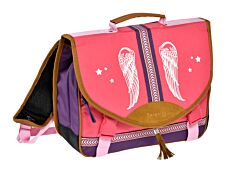 Berenice Cartable 38 cm rose 1 compartiment Alpa