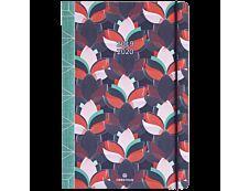 Agenda de poche Sakura 1 Semaine sur 2 pages 17,5X9,5cm Oberthur