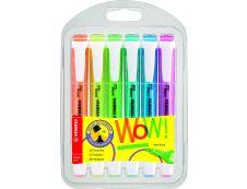STABILO swing cool - Pack de 6 surligneurs - couleurs assorties
