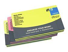 Global Distribution - Notes adhésives - 80 feuilles - 125 x 75 mm - couleurs assorties