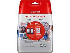 Canon PG-545XL/CL-546XL - noir, cyan, magenta, jaune - cartouche d'encre originale + kit papiers