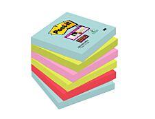 Notes Super Sticky Post-it Miami - 76 x 76 mm - 6 blocs