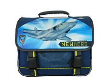 New Hero Cartable 38 cm marine 2 compartiments Bagtrotter