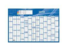 Quo Vadis - calendrier - 13 mois sur une face - 675 x 440 mm - bleu