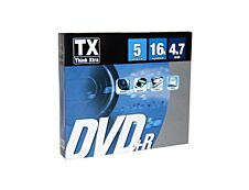 Think Extra - Pack de 5 DVD+R TX 16X - slimcase