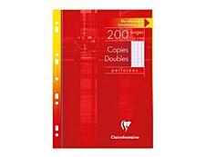 Clairefontaine 200 copies doubles grands carreaux A4 perforées