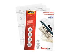 Fellowes - 100 pochettes de plastification A4 (216 x 303 mm) - 125 microns - brillantes