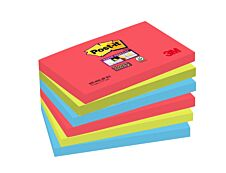 Post It - Pack de 6 Blocs - Notes Super Sticky - 76 x 127 mm - Bora Bora