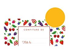 Avery Fruits rouges - 20 étiquettes de confiture