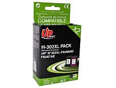 HP 302XL - remanufacturé UPrint H.302XL - Pack de 2 - noir, cyan, magenta, jaune - cartouche d'encre