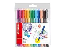 Stabilo pointMax - Pack de 12 - feutres d'écriture - pointe large - couleurs assorties