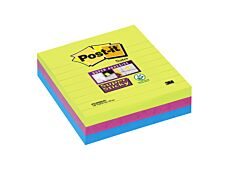 Notes Super Sticky Post-it Grands Formats - 101 x 101 mm - 3 blocs