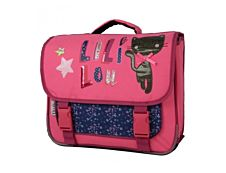 Lililou Cartable 38 cm rose 2 compartiments Bagtrotter
