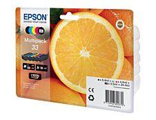 Epson 33 Oranges - Pack de 5 - noir, cyan, magenta, jaune - cartouche d'encre originale