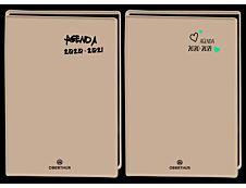Agenda Gomme millisimé - 1 jour par page - 12,5 x 17,5 cm - Oberthur