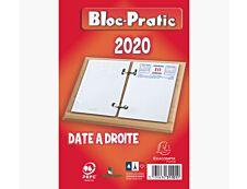 Exacompta Bloc-Pratic - Recharge d'agenda - 2020 - date à droite