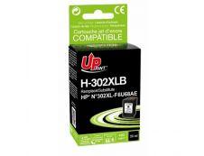 HP 302XL - remanufacturé Uprint H.302XLB - noir - cartouche d'encre