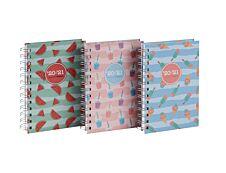 Agenda à spirales Happy - 1 jour par page - 11,5 x 16,9 cm - 3 décors assortis - Brepols