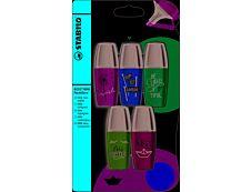 Stabilo BOSS MINI PASTEL -Pack de 5 -  surligneurs - couleurs assorties