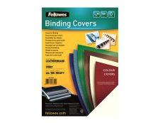 Fellowes - couvertures à reliure A4 (21 x 29,7 cm) - carton grain cuir 250 g/m² - ivoire