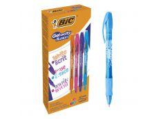 Bic Gelocity Illusion  - Pack de 12 - rollers effaçables  - 0,7mm - plusieurs coloris disponibles