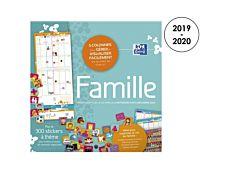 Calendrier Oxford Famille 1 mois sur 2 pages Hamelin