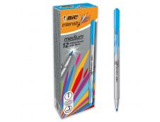 BIC Intensity - Pack de 12 - feutres fins - pointe moyenne - turquoise