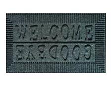 Tapis aiguilleté & caoutchouc - 45 x 75 cm - gris
