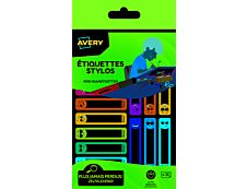 Avery - 30 Étiquettes pour stylo Smiley 50 x 10 mm