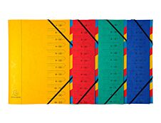 Exacompta Nature Future - Parapheur 12 compartiments - disponible dans différentes couleurs
