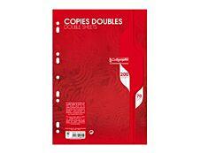 Calligraphe 200 copies doubles grands carreaux A4 perforées