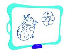 Maped - Kit ardoise blanche avec des motifs grille bleue - avec feutre et effaceur  - grands carreaux (seyes) - cadre bleu