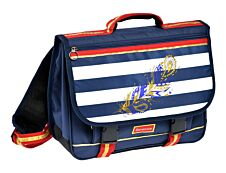 Berenice Cartable 38 cm bleu 1 compartiment Alpa