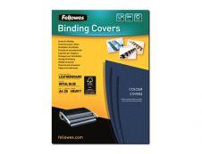 Fellowes - 25 couverture à reliure A4 (21 x 29,7 cm) - carton grain cuir  250 g/m² - Bleu Royal