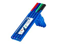 Staedtler Triplus ball 437 - 4 Stylos à bille - couleurs assorties