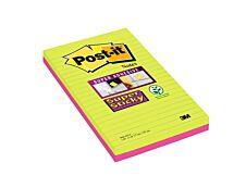 Post It - Pack de 2 Blocs grand format - Notes Super Sticky - 127 x 203 mm