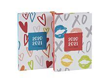 Agenda Love & Kisses - 1 jour par page - 11,5 x 16,9 cm - 2 décors assortis - Brepols
