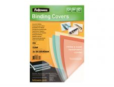 Fellowes - 100 couverture à reliures A4 (21 x 29,7 cm) - plastique 200 microns - transparent